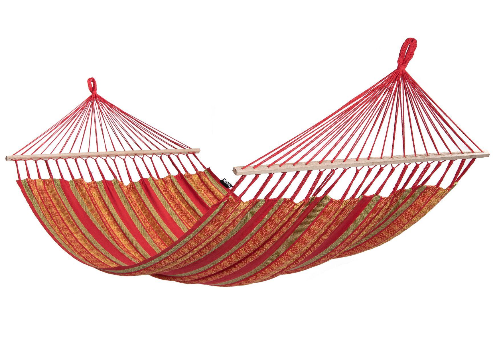 Hängematte aus Baumwolle Single rot Doppel